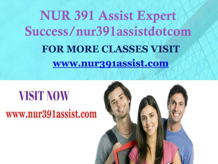 Nur 391 assist expert success nur391assistdotcom
