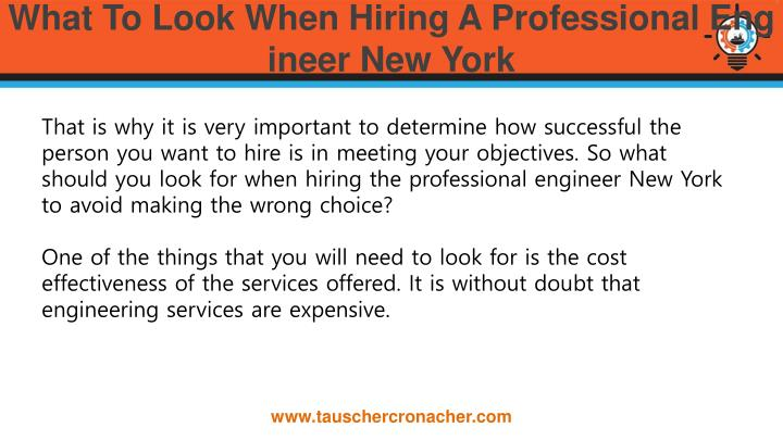 What to look when hiring a professional engineer new york1