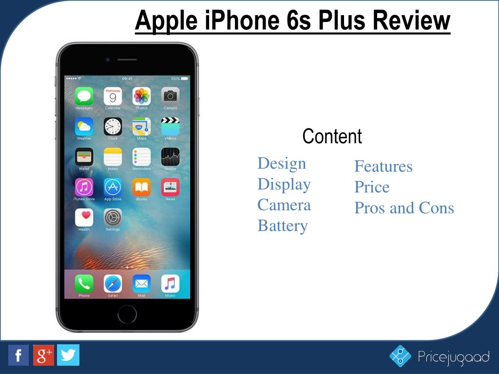 Ppt apple iphone 6s plus latest price and full specifications.