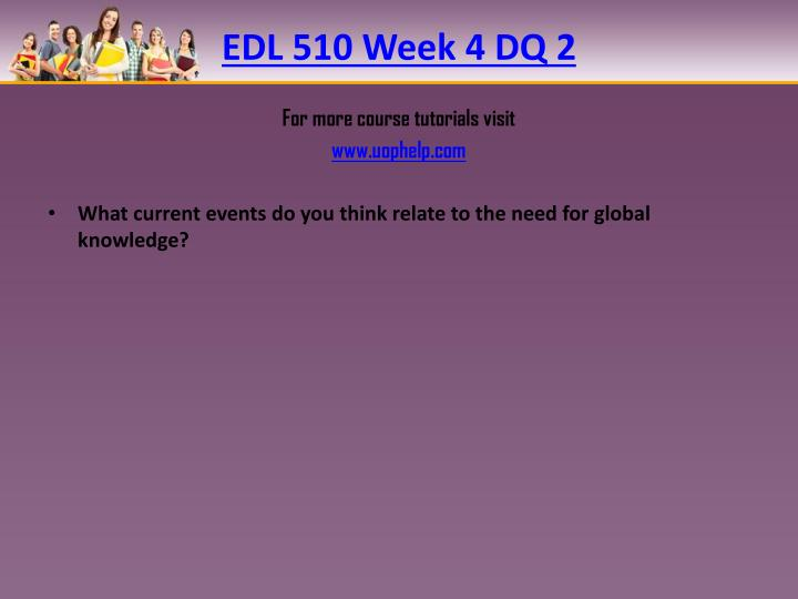 EDL 510 Week 4 DQ
