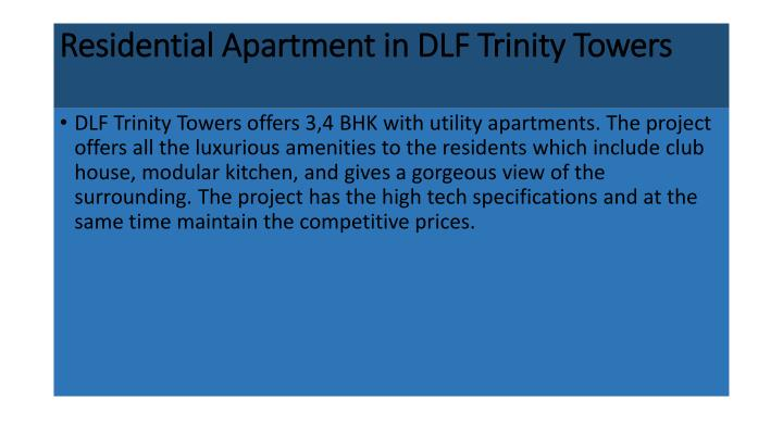 Residential Apartment in DLF Trinity Towers