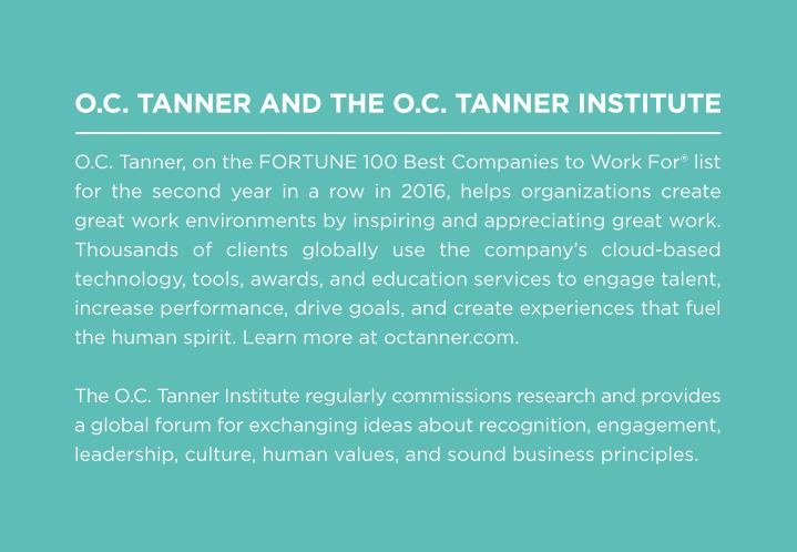 O.C. TANNER AND THE O.C. TANNER INSTITUTE