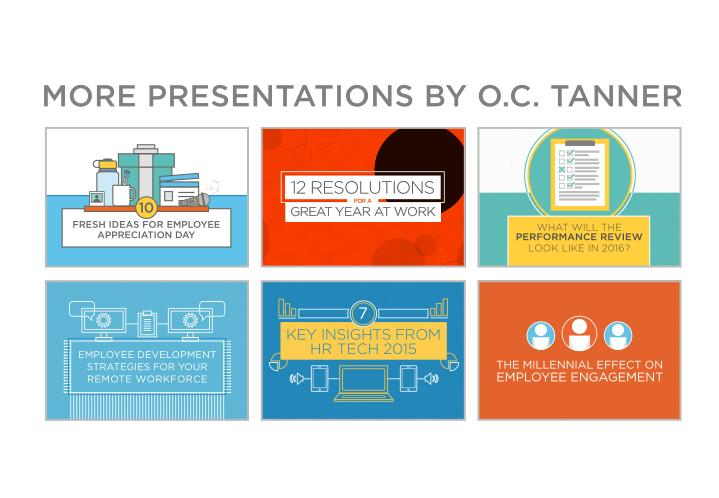 MORE PRESENTATIONS BY O.C. TANNER
