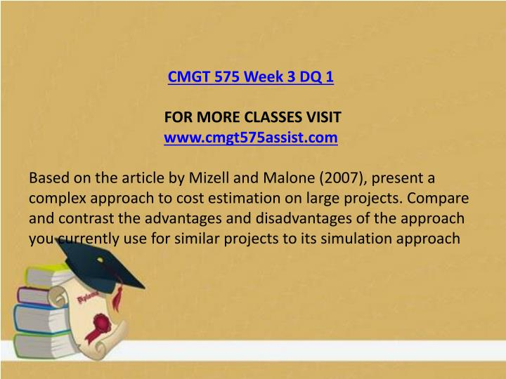 CMGT 575 Week 3 DQ 1