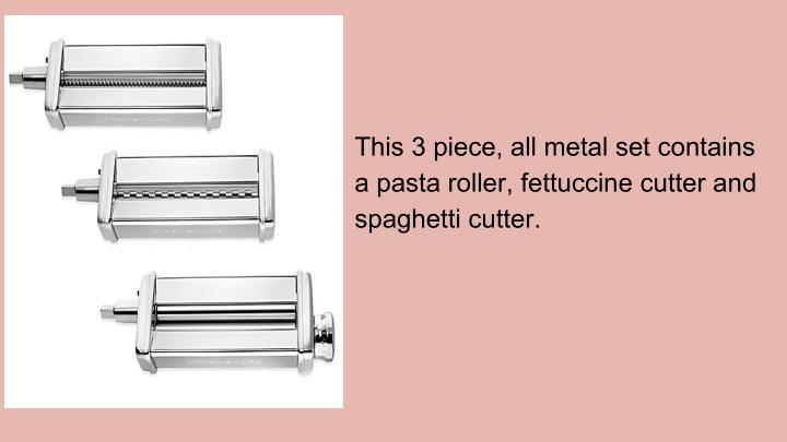 This 3 piece, all metal set contains