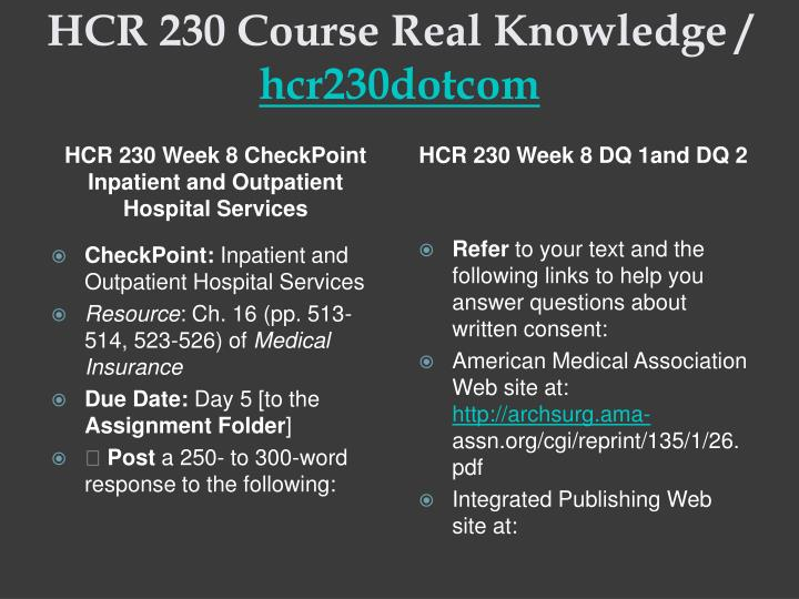 hcr 230 week 7 checkpoint effective financial policies and procedures Hcr 230 week 7 checkpoint effective financial policies amp proced  in what ways do medical office procedures support financial policies.
