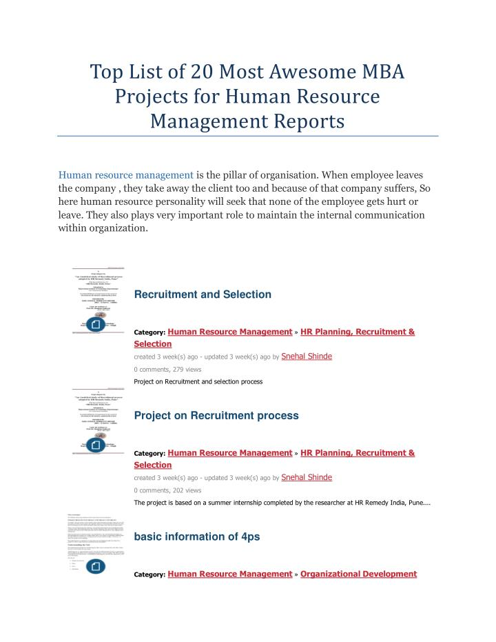 mba hr project report on training and development This project is intended to give an insight to one of the primary human resource function ie training and development being followed in hcl infosystem the document begins with a brief overview, objectives of the study and goes on to elaborate on the need and significance of the study.