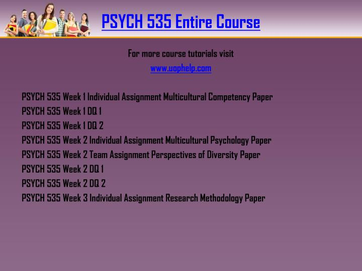Psych 535 entire course