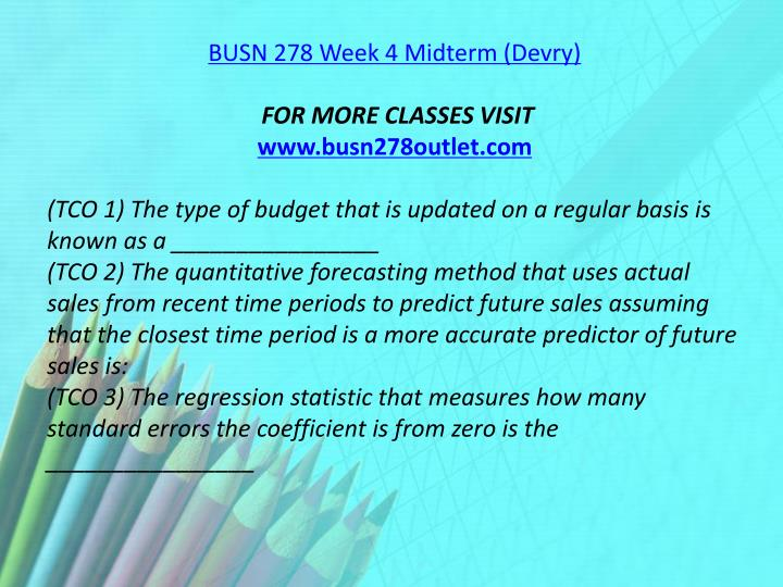 budgeting and forecasting 278 midterm 2014 Thoroughly updated to reflect the latest trends, developments, and practices from the field, fundamentals of financial management, 14e equips you with a.