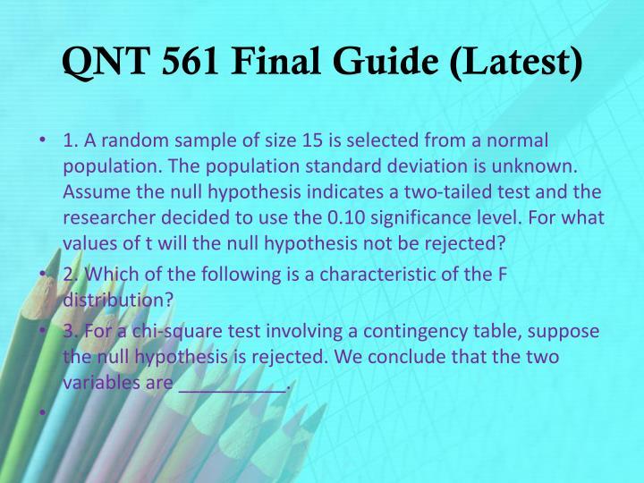 Qnt 561 final guide latest