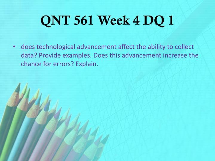 QNT 561 Week 4 DQ 1