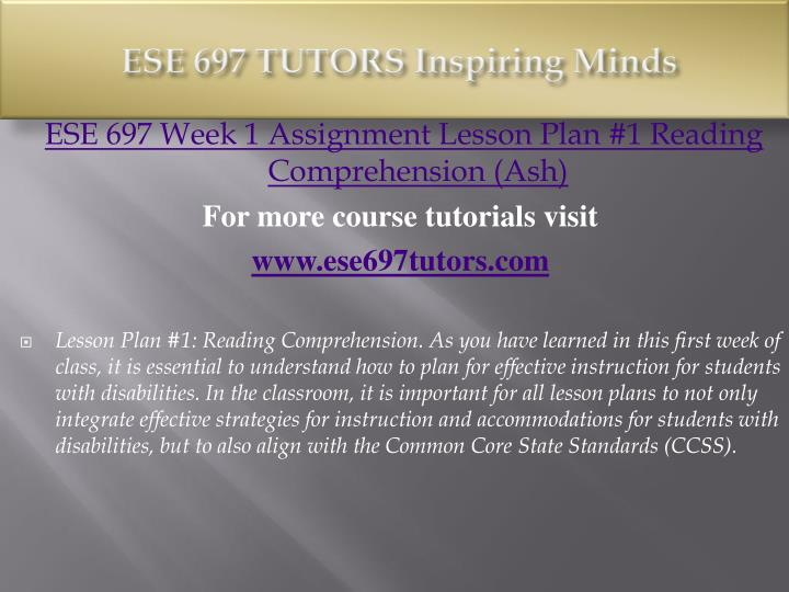 Ese 697 tutors inspiring minds1
