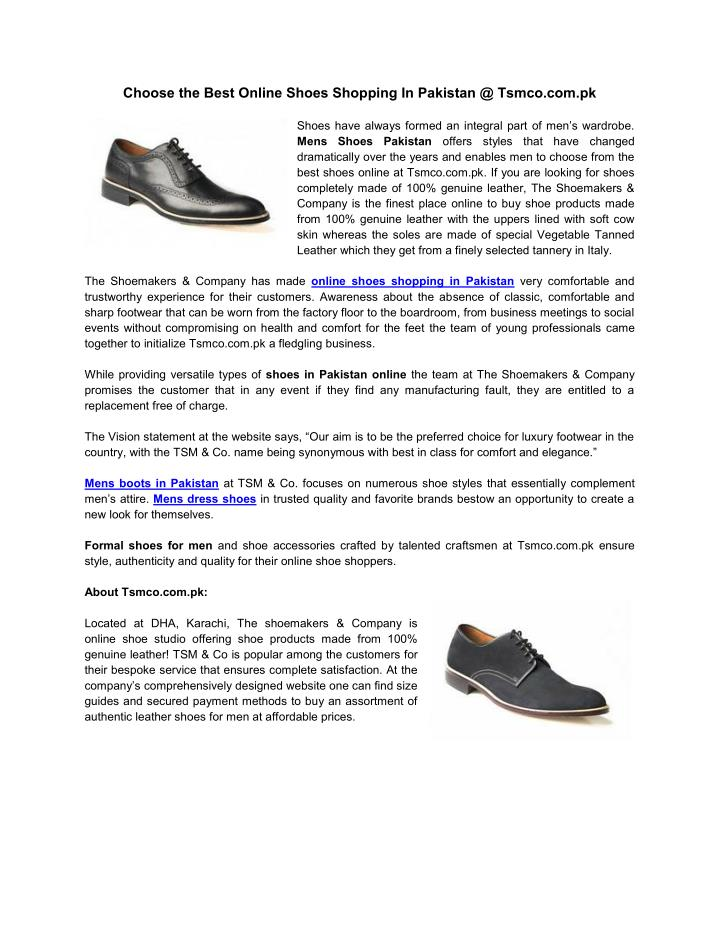 caac6882ac PPT - Online Shoes Shopping In Pakistan PowerPoint Presentation - ID ...