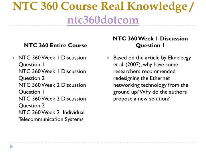 Ntc 360 course real knowledge ntc360 dotcom1