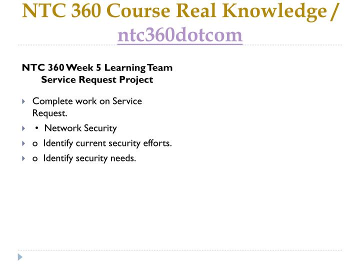 NTC 360 Course Real Knowledge /