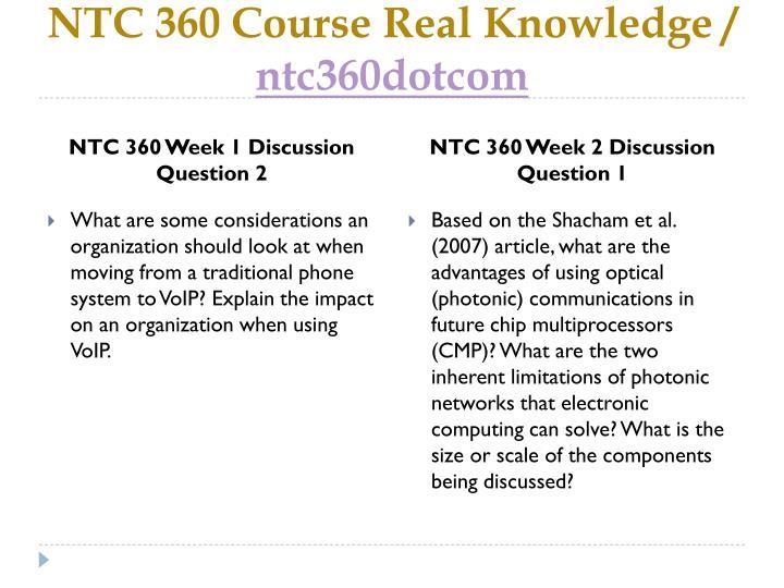Ntc 360 course real knowledge ntc360 dotcom2