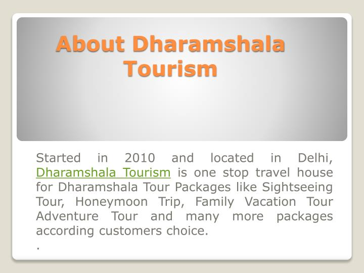 About dharamshala tourism