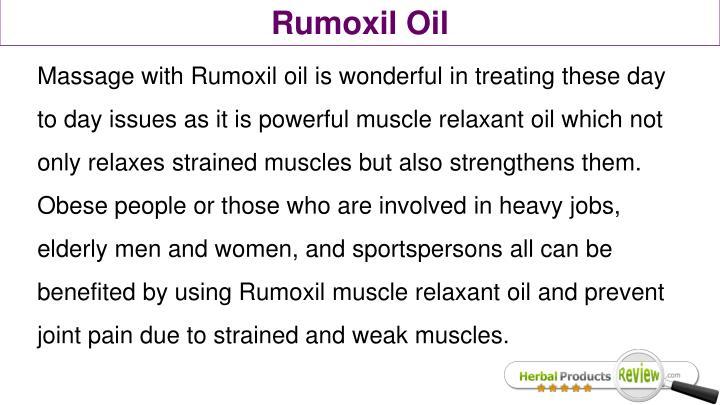 Rumoxil Oil