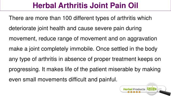 Herbal Arthritis Joint Pain Oil