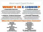 about vape e liquid product