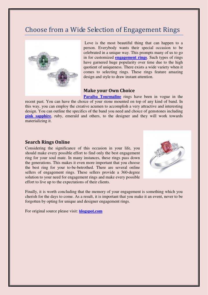 Choose from a Wide Selection of Engagement Rings