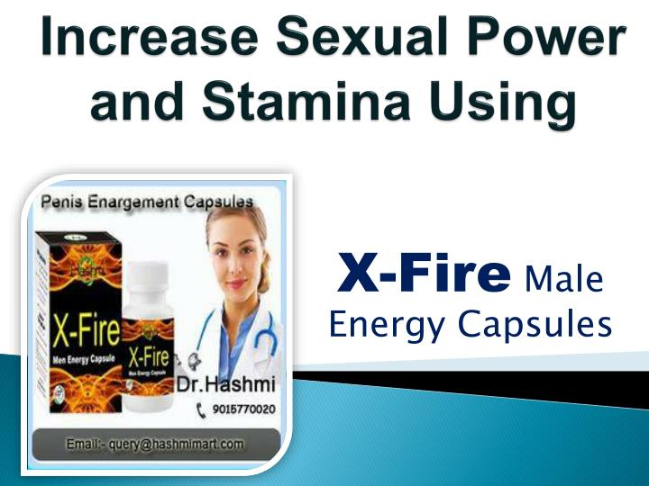 increase sexual power and stamina using n.