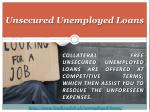 unsecured unemployed loans