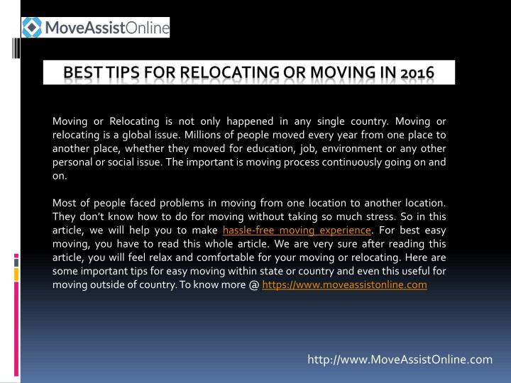 best tips for relocating or moving in 2016 n.