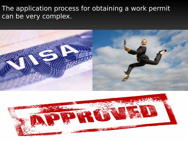 The application process for obtaining a work permit
