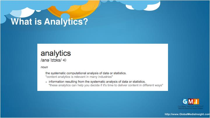 What is analytics