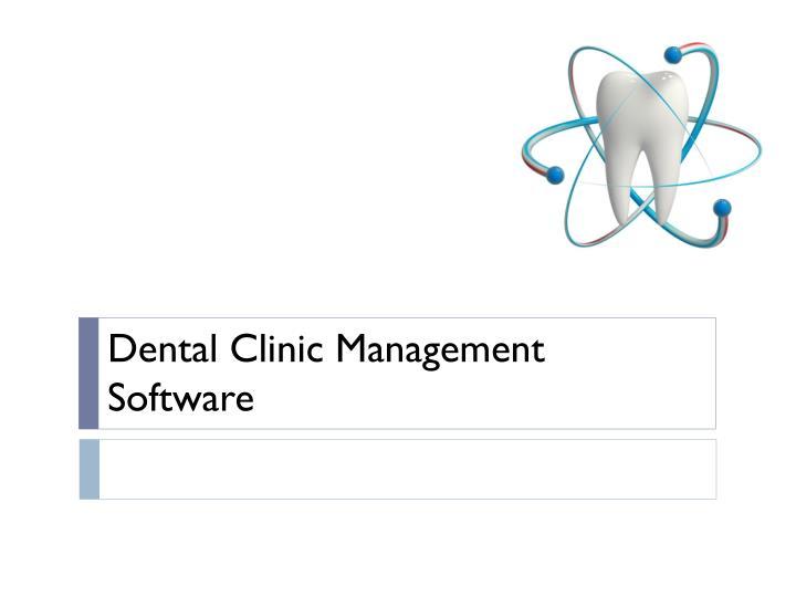 Dental c linic management software