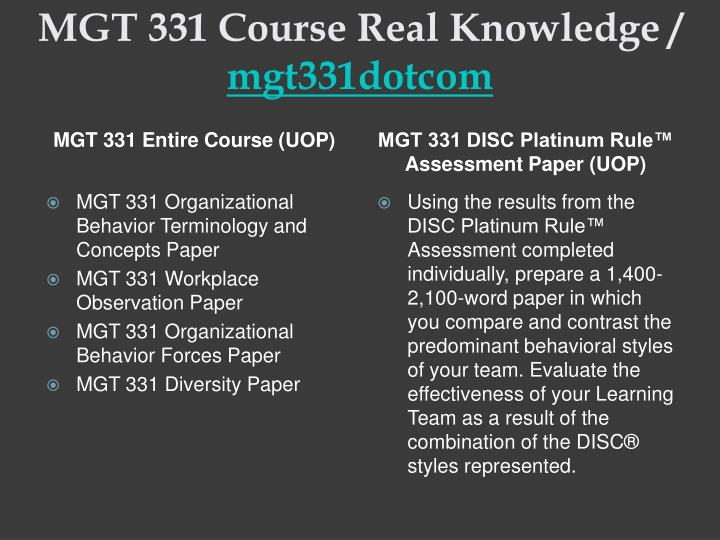 workplace observations mgt 331 organizational behavior essay Mgt 331 something great/uophelpcom mgt 331 entire course for more course tutorials visit wwwuophelpcom mgt 331 organizational behavior terminology and concepts paper mgt 331 workplace observation paper mgt 331 organizational behavior forces paper mgt 331 diversity paper mgt 331 interactive simulation.