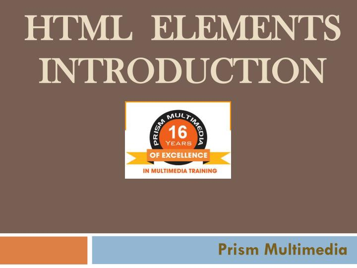html elements introduction n.