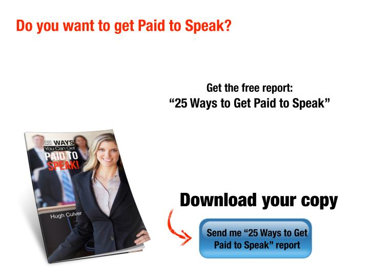 how to get paid to speak publicly