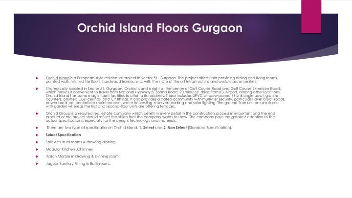 Orchid island floors gurgaon
