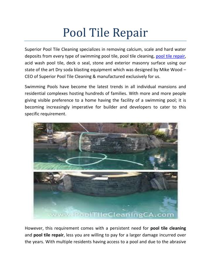 PPT - Pool Tile Repair PowerPoint Presentation, free ...