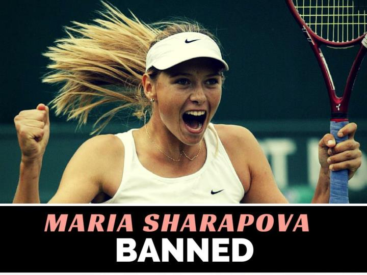 maria sharapova banned n.