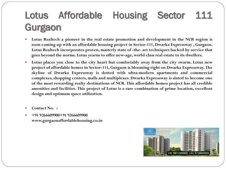 Lotus Affordable Housing Sector 111