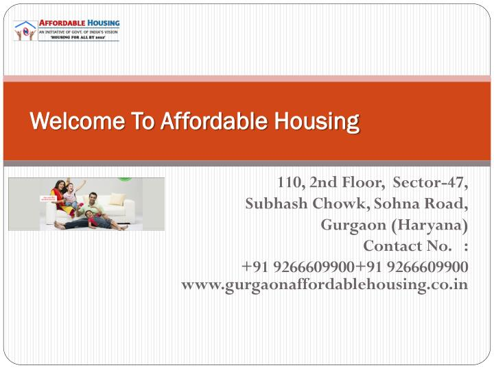 Welcome to affordable housing