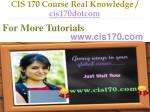 cis 170 course real knowledge cis170dotcom5