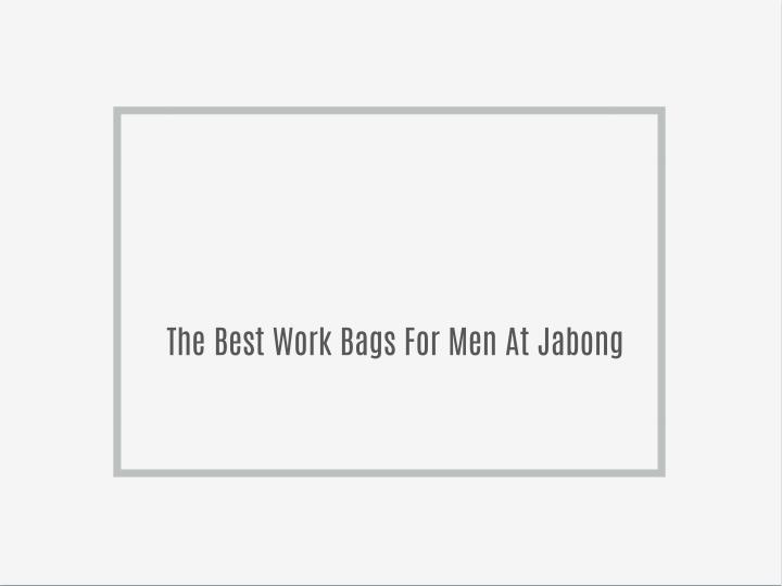 The Best Work Bags For Men At Jabong