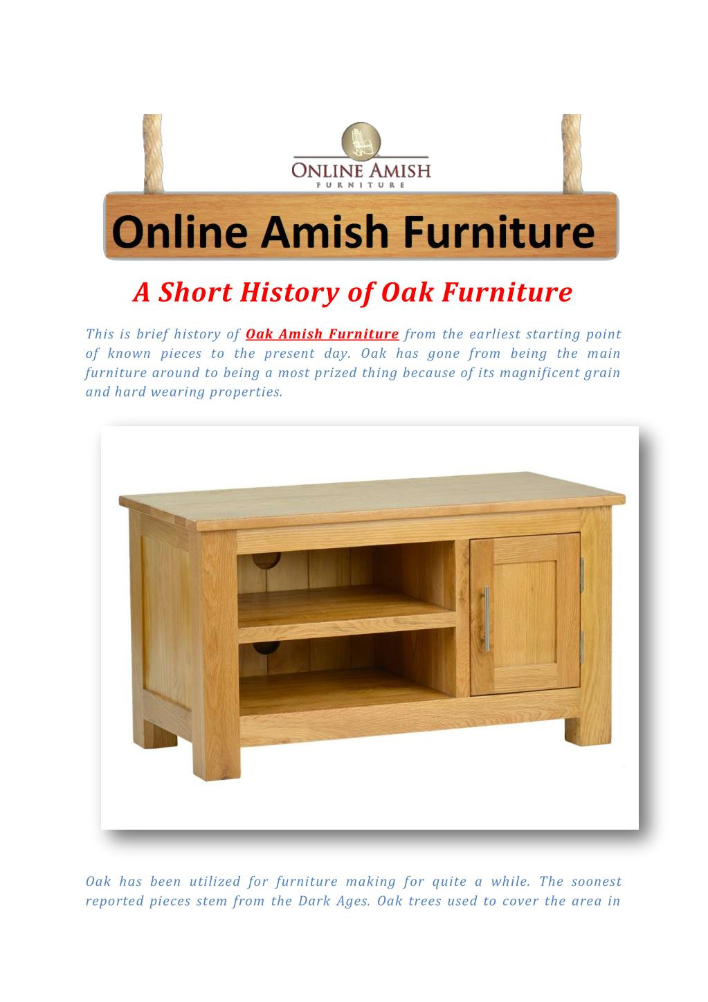 Ppt A Short History Of Oak Furniture Powerpoint Presentation Free Download Id 7352721