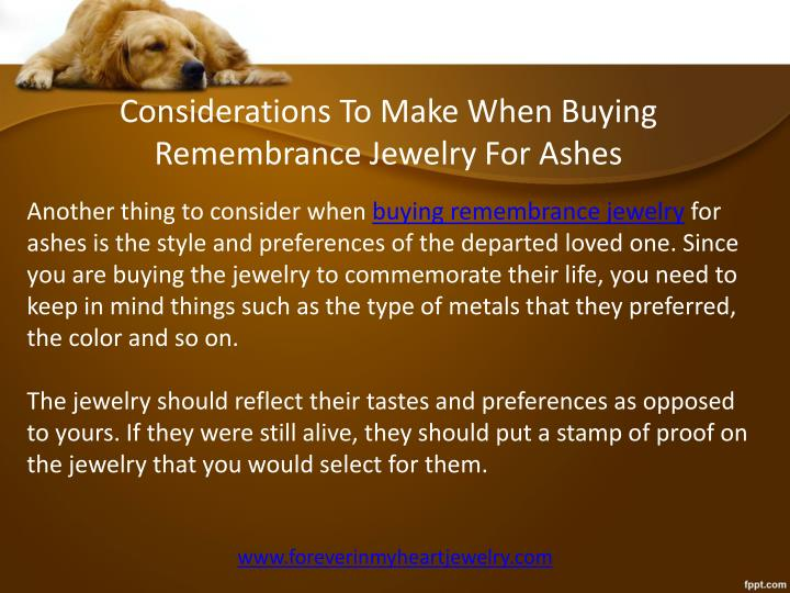 Considerations To Make When Buying Remembrance Jewelry For Ashes