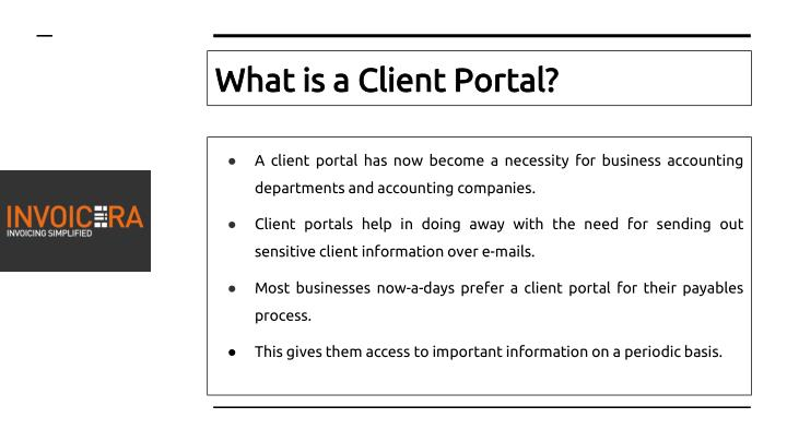 What is a client portal