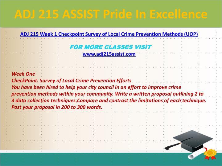 Adj 215 assist pride in excellence1