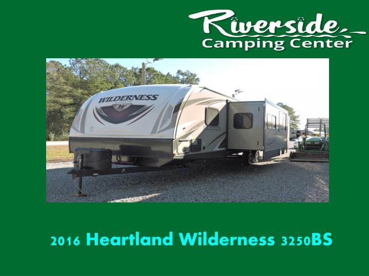 2016 Heartland Wilderness 3250BS
