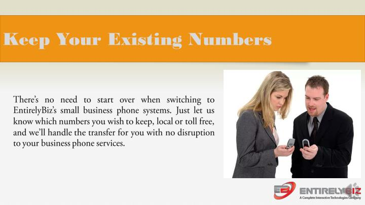 Keep Your Existing Numbers