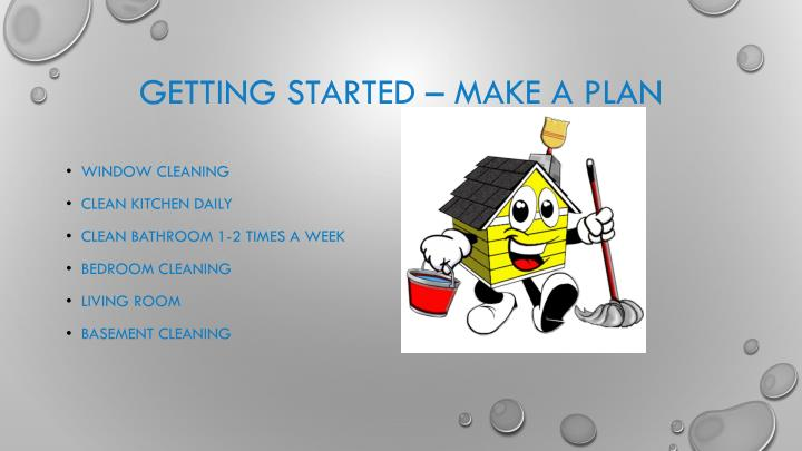Getting started make a plan