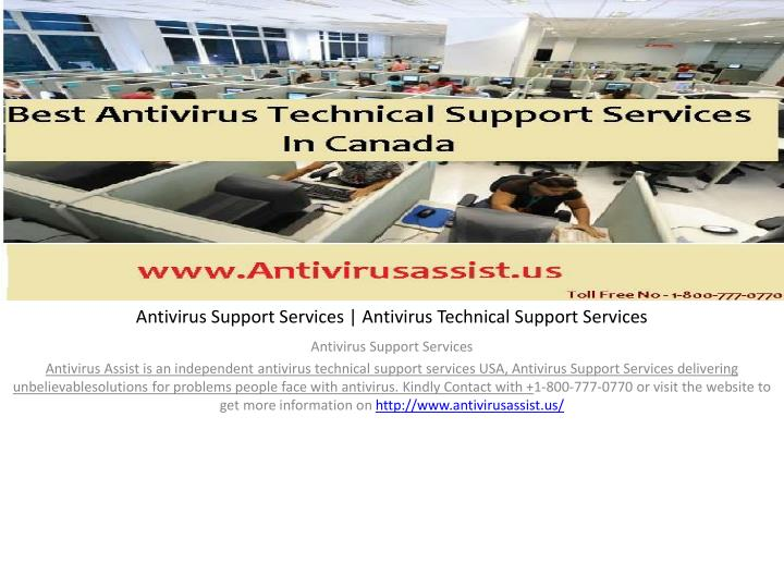 antivirus support services antivirus technical support services n.