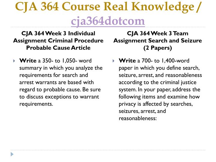 cja 364 entire course Filename: cja-364-entire-course-51zip filesize:  2 mb downloads: 0 print length: 2 pages/slides words: na thumbnail of first page excerpt from file: explaininyourownwordswhatisprivacyinyouropinion,whatdistinctionscanbe.